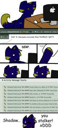 Shadow the Stalker xD by CongotehJackal