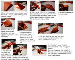 Crane Bird Origami TUTORIAL by carriephlyons