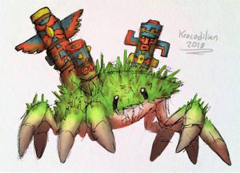 Totem Crab by Krocodilian