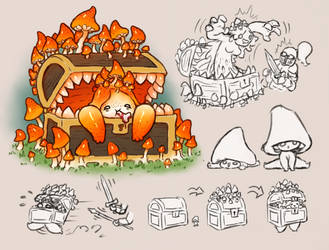 #FebsterMix | Day 2 | Mushroom + Mimic by Krocodilian