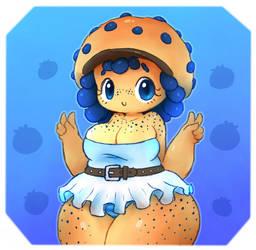 Blueberry Muffin by Krocodilian