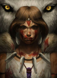 Princess Mononoke by cathyrox