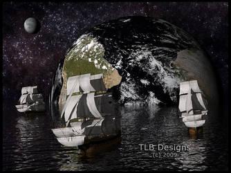 Sailing the Cosmic Ocean by TLBKlaus