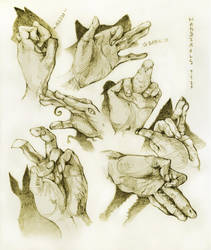 Hands by MamoswineDraws