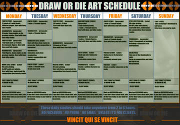 DRAW OR DIE ART CALENDAR by SPARATIK