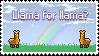 Llama for Llama Stamp (F2U) by DominickLuhr