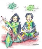 Loki, Leah and Thori by blargberries