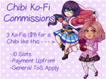 Chibi Commissions [9/10 OPEN] by JennaRoseDove