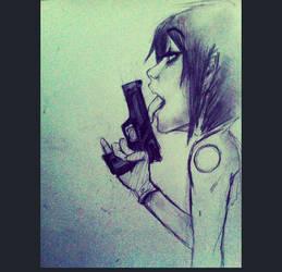 Handgun by lunatoon98