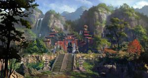 Taoist temple by dawnpu
