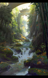 Bamboo Brook by dawnpu