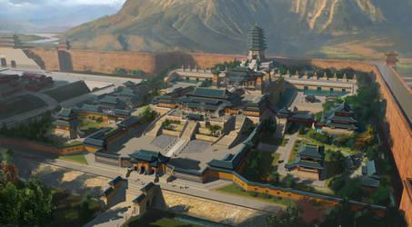 Xiang guo temple design by dawnpu