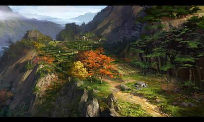 tea garden by dawnpu