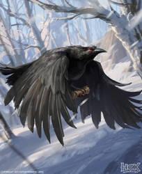 One bird card for hex by dawnpu