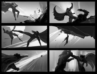 super man battle just for fun by dawnpu