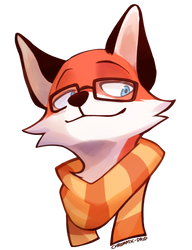CM: hipster fox boi by Chromatic-drip