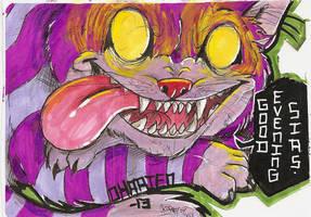 Cheshire cat Sticker by Okarien