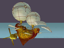 Airship Concept 02 by MrBlackCap