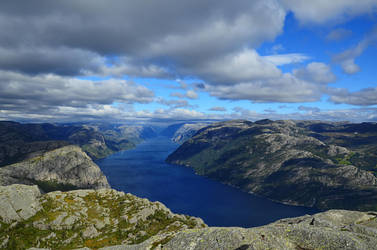 Lysefjord by dropsofpurplerain
