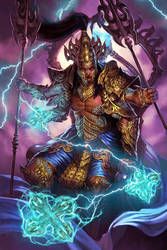 Indra-God of Thunder Lv2 by DiegoGisbertLlorens