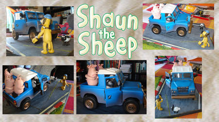 Shaun the sheep diorama by Forsain