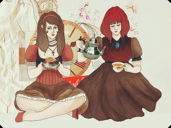 Tea Time. by pumpkin-juice