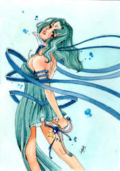 Sailor Neptune Transformation by lillybraconnot