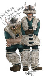 RA: Halt makes a hideous fashion statement.... by neodactylus