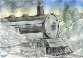 Train and Steam by CyanilurusJubatus