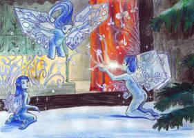Icy Paintings Glass And Gnomes by CyanilurusJubatus