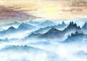 Misty Mountains by CyanilurusJubatus