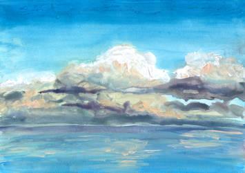 Clouds Above Water by CyanilurusJubatus