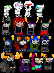 everyone has a color streak but eridan au by Deaderidan