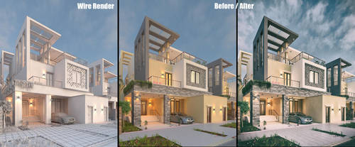 Private Villa Facades Design - Before/After 1 by M-Salman