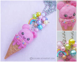 *Pink Bear Ice Cream necklace* by decoland