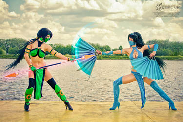 Kitana and Jade 2 by diacita