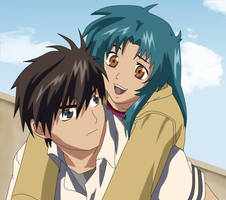 Sousuke and Chidori by Rydin