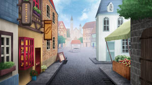 The Village - visual novel BG by gin-1994