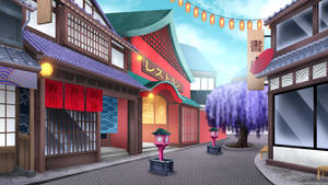 The Japan shopping complex - visual novel BG by gin-1994