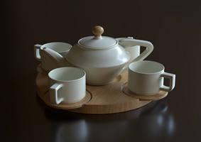 A tea set S by Ozzik-3d