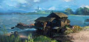 beach hut by Gunzfree
