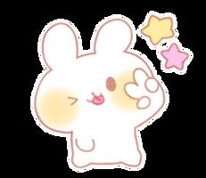 Bunny Emoji (Peace Sparkle Star Wink) [PMotes] by Jerikuto