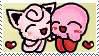 Jigglypuff and Kirby Stamp by Sakurarmarie