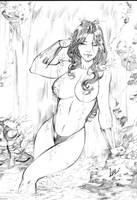 Wonder Woman - Commission Pencil #1 by CaioMarcus-ART