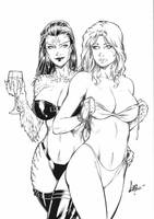 Witchblade and Dannette #1 Ink - Commission by CaioMarcus-ART