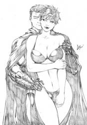 Catwoman and Batman - Commission #1 Pencil by CaioMarcus-ART
