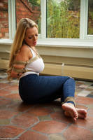 Hannah Claydon Tied in Jeans and Barefoot by lix50