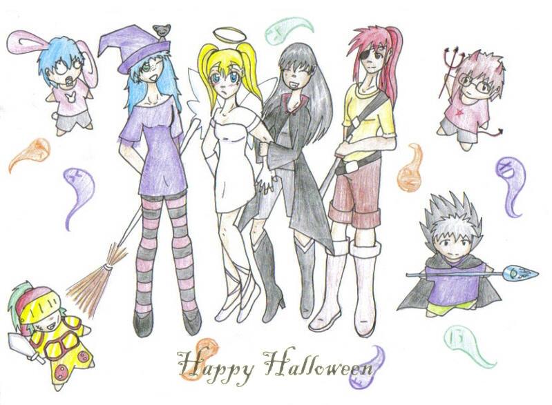 flying koi halloween by fruits-basket-head