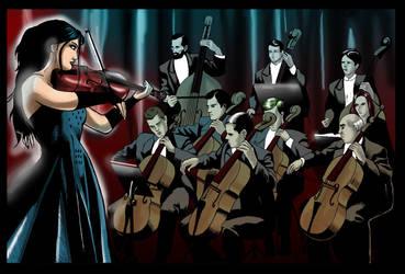 violin by kikomauriz