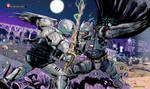 Batman vs Shadow Moon by kikomauriz